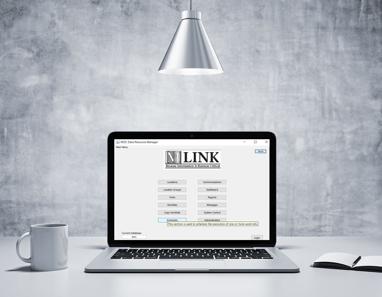 Mlink.com on Laptop Screen